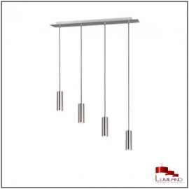 Suspension MARLEY, Nickel Satiné, 4 lumières.