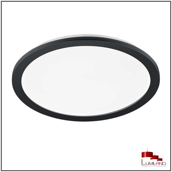 Plafonnier CAMILLUS, Noir Mat, LEDS Intégrées, Rond, 40cm