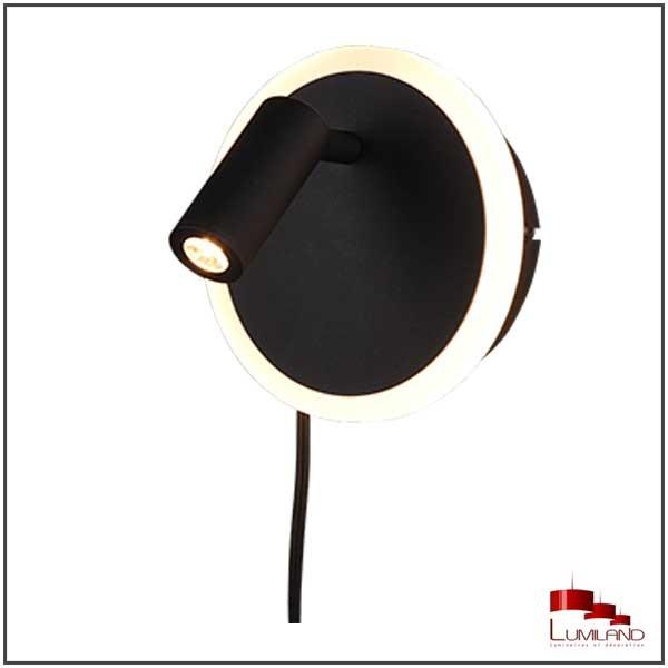 Applique JORDAN, Noir Mat, LEDS Intégrées