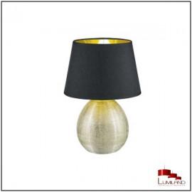 Lampe LUXOR, Or et Noir, 1 lumière, GM