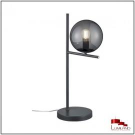 Lampe PURE, Anthracite, 1 lumière, verre Fumé.