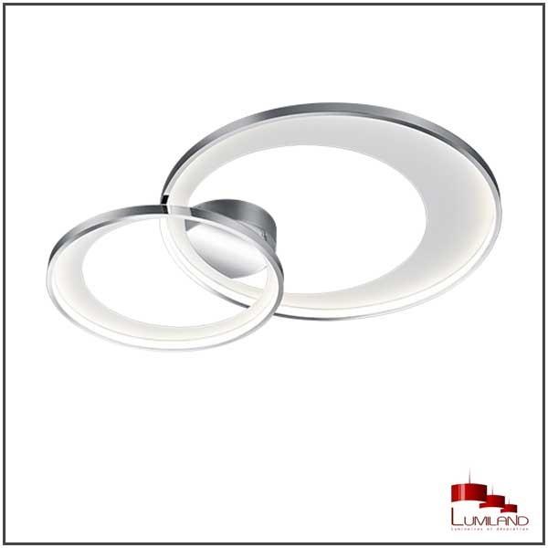 Plafonnier GRANADA, Chrome et Blanc, LEDS Intégrées, D59