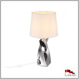 Lampe ABEBA, Argent, 1 lumière, 68 cm.
