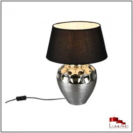 Lampe LUANDA, Argent, 1 lumière, 54cm