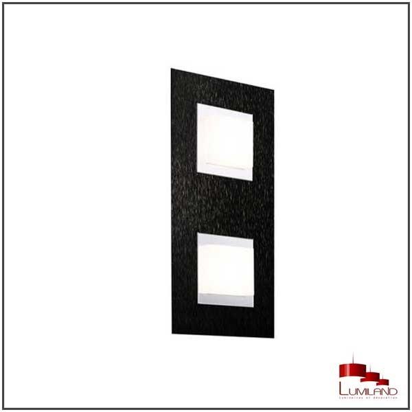 Applique BASIC, Noire Mat, 2 LEDS Intégrées
