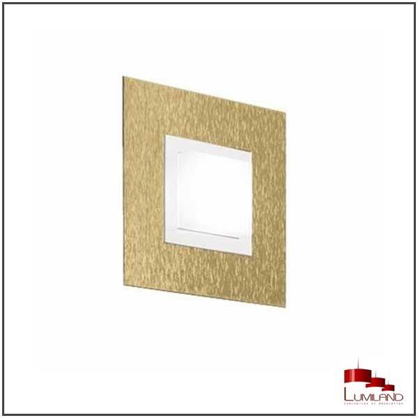 Applique BASIC, Laiton Mat, 1 LEDS Intégrées