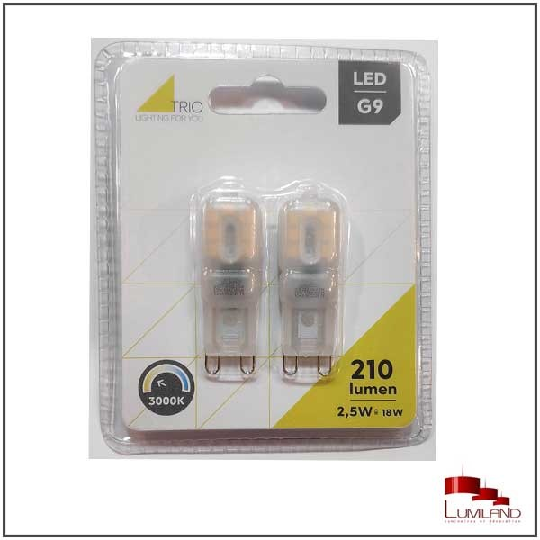 Ampoule BLISTER à LEDS, G9, 2.5W, 3000K
