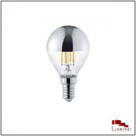 Ampoule ARGENT à LEDS FILAMENT, E14, 4W, 2800K