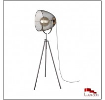 Lampadaire IVAR, Nickel Antique, 1 lumière.
