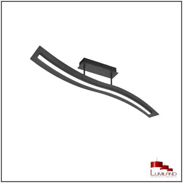 Plafonnier SALERNO, Noir Mat, LEDS Intégrées