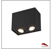 Plafonnier BISCUIT, Noir, 2 lumières