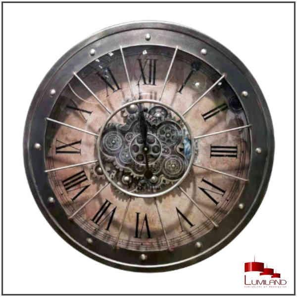 Horloge VIRGINIA, Finition métal, diamètre 80 cm.