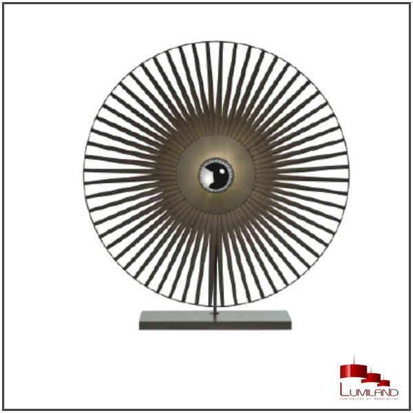Lampe TAZENA, Noire, 1 lumière, D55.