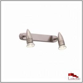 Réglette ALFA, Nickel Mat, 2 lumières
