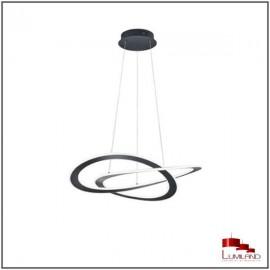 Suspension OAKLAND, Noir Mat, LEDS Intégrées