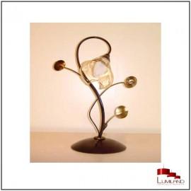 Lampe ELISE,  Rouille et Or, 1 lumières