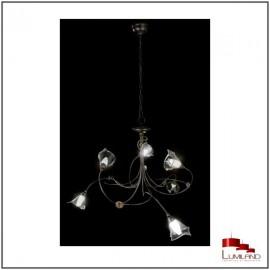 Lustre ELISE, Rouille et Or, 6 lumières