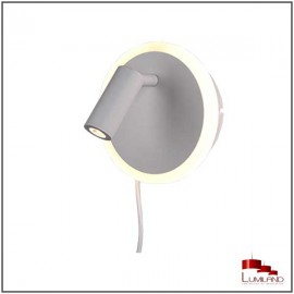 Applique JORDAN, Blanc Mat, LEDS Intégrées