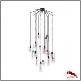 Suspension ILO-ILO, Noire, 16 lumières