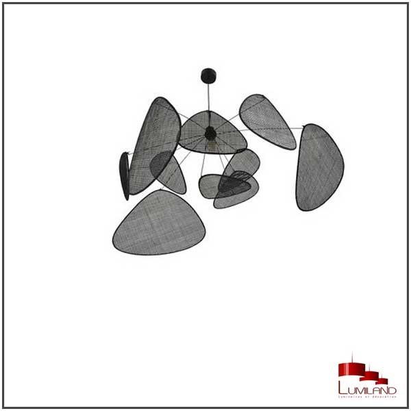 Suspension SCREEN XL, Noire, 1 Lumière, D110